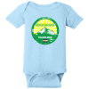 Breckenridge Colorado Mountain Flag Baby Creeper Light Blue Rabbit Skins Infant Short Sleeve Infant Rib Bodysuit RS4400