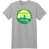 Breckenridge Colorado Mountain Flag T-Shirt Light Steel Hanes Nano 4980 Ringspun Cotton T Shirt