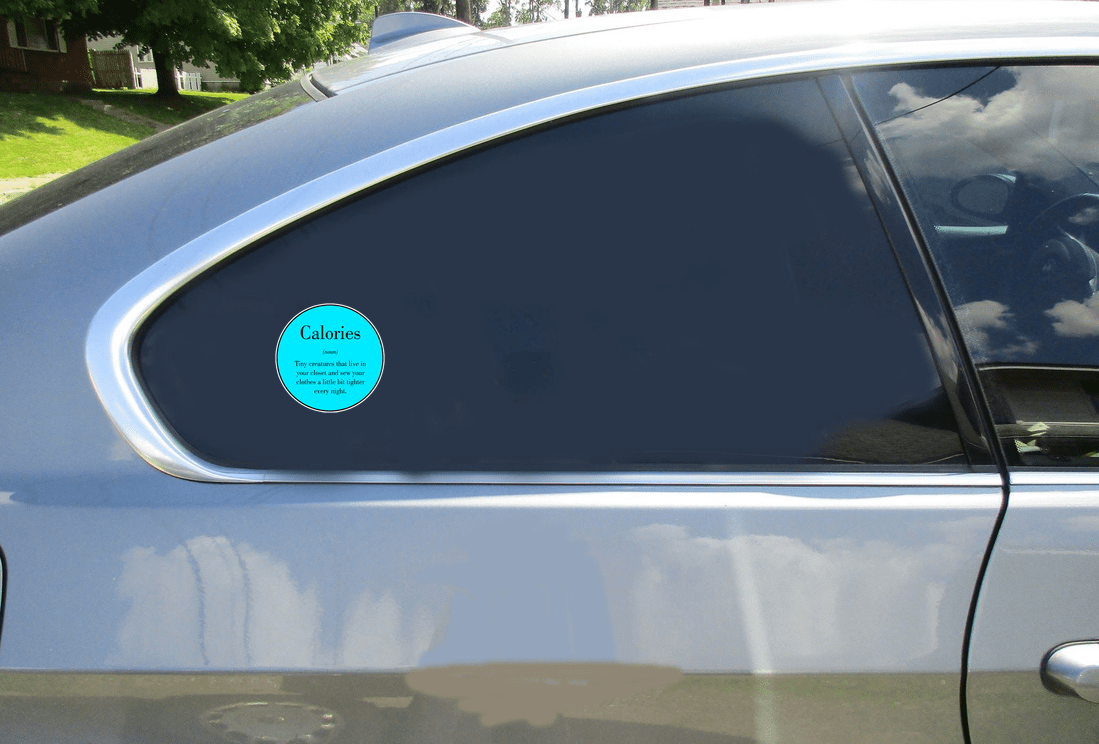 Calories Definition Sticker Car Sticker