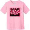 Chicago Skyline Retro Toddler T-Shirt Pink Rabbit Skins Toddler Fine Jersey Tee RS3321