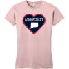 Connecticut Heart State T Shirt Dusty Lavender District Women's Very Important Tee DT6002