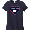 Connecticut Heart State T Shirt New Navy District Women's Very Important Tee DT6002