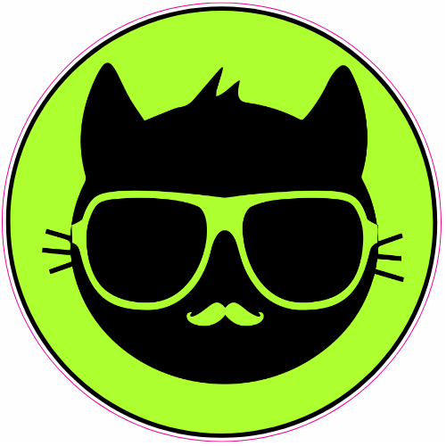 Cool Cat Sticker | U.S. Custom Stickers