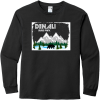 Denali State Park Alaska Long Sleeve T Shirt Black Gildan Hammer Long Sleeve T Shirt