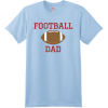 Football Dad T Shirt With Name And Number Light Blue Hanes Nano 4980 Ringspun Cotton T Shirt