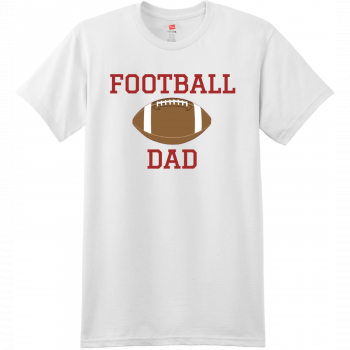 Football Dad T Shirt With Name And Number White Hanes Nano 4980 Ringspun Cotton T Shirt