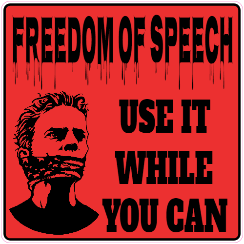 Freedom Of Speech Sticker | U.S. Custom Stickers