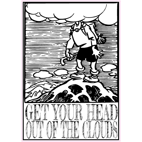 Get Your Head Out Of The Clouds Sticker   U.S. Custom Stickers