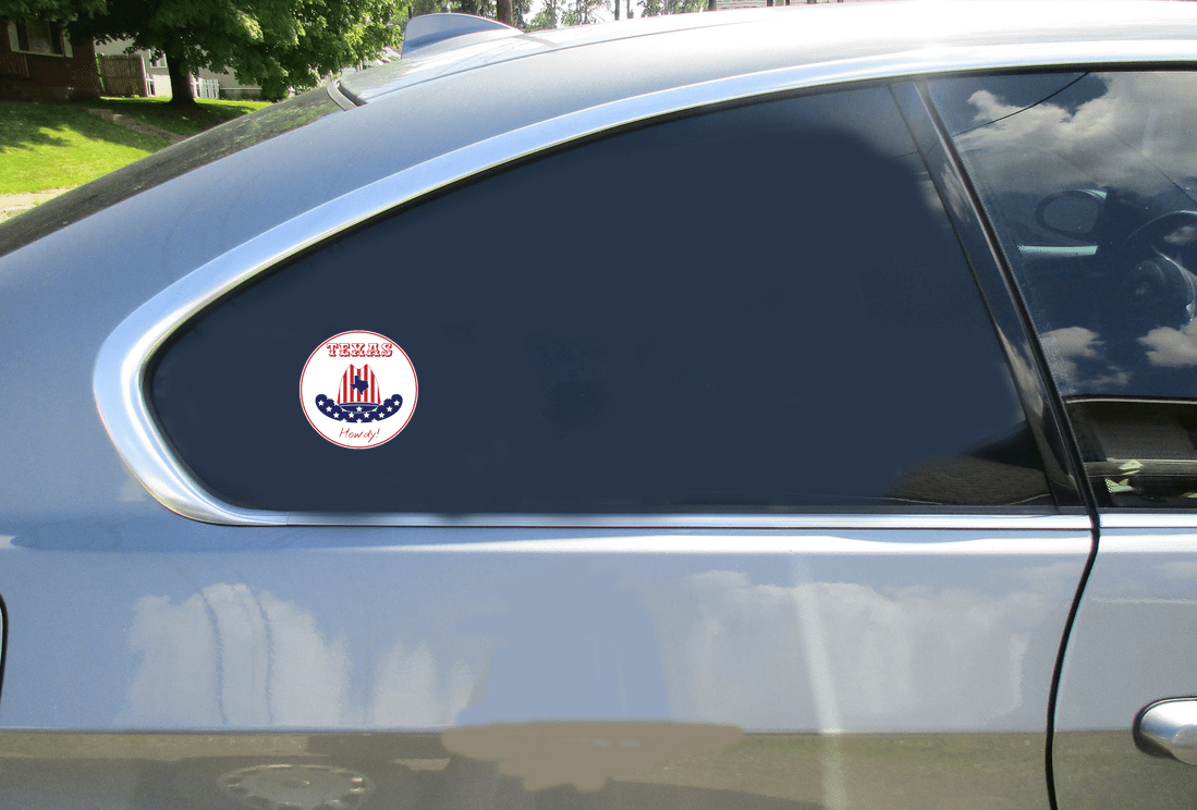 Howdy From Texas Circle Decal Car Sticker