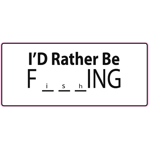 I'd Rather Be Fishing Sticker | U.S. Custom Stickers