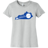 Kentucky State Shaped Banjo Women's T Shirt Silver Bella Canvas 6004 Ladies The Favorite Tee