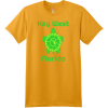 Key West Florida Turtle T Shirt Gold Hanes Nano 4980 Ringspun Cotton T Shirt
