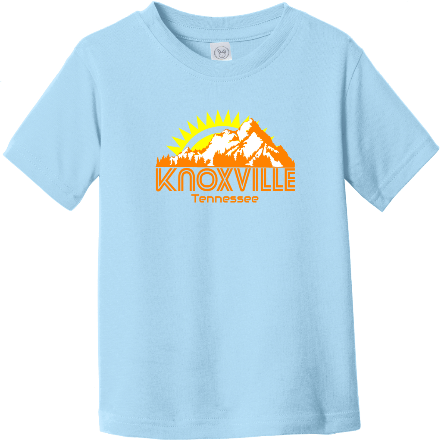 Knoxville Tennessee Mountains Toddler T Shirt Light Blue Rabbit Skins Toddler Fine Jersey Tee RS3321
