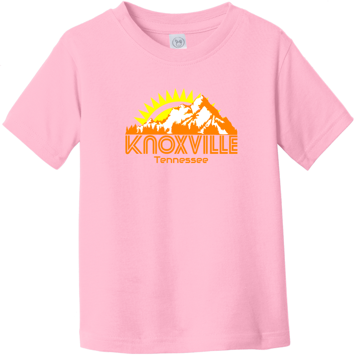 Knoxville Tennessee Mountains Toddler T Shirt Pink Rabbit Skins Toddler Fine Jersey Tee RS3321