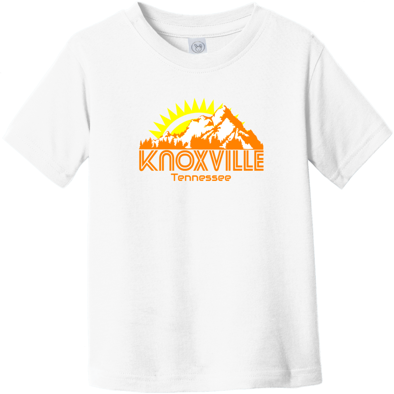 Knoxville Tennessee Mountains Toddler T Shirt White Rabbit Skins Toddler Fine Jersey Tee RS3321