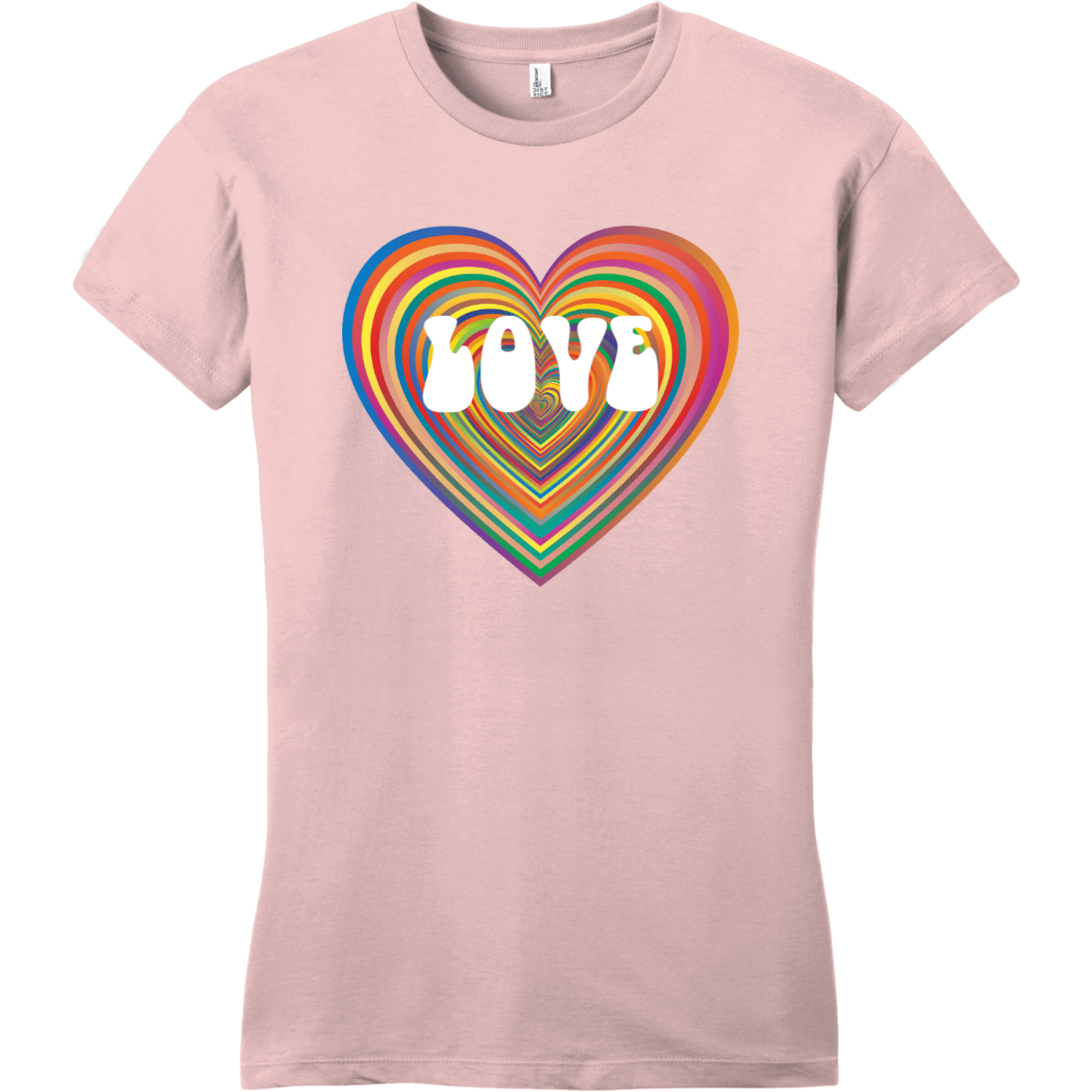 Love Psychedelic Heart T Shirt Dusty Lavender District Women's Very Important Tee DT6002