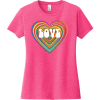 Love Psychedelic Heart T Shirt Fuchsia Frost District Women's Very Important Tee DT6002