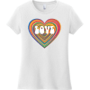 Love Psychedelic Heart T Shirt White District Women's Very Important Tee DT6002