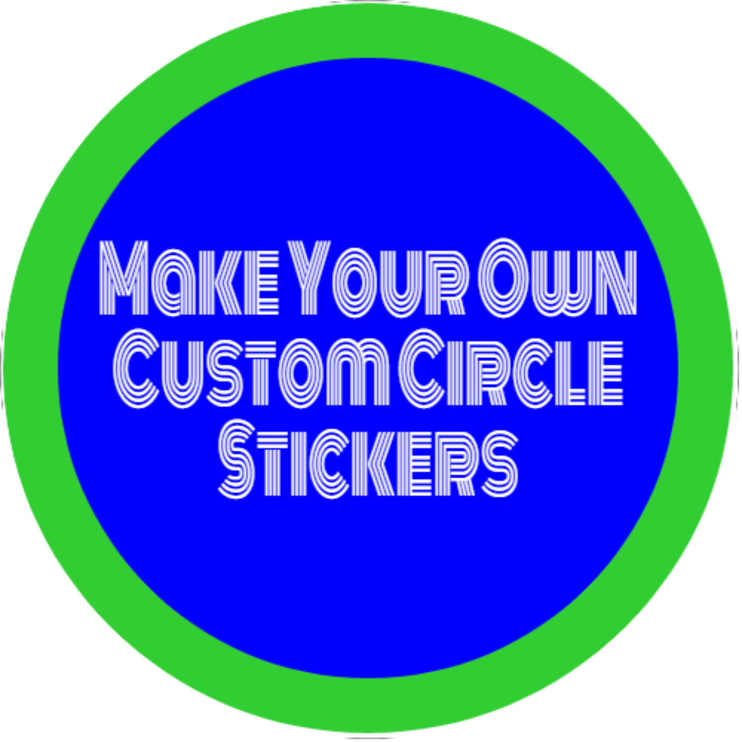 Make Your Own Custom Circle Stickers White Make Your Own Circle Decal