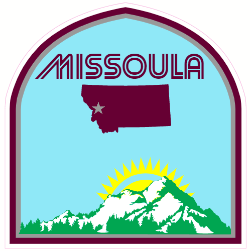 Missoula Montana Mountain Sticker | U.S. Custom Stickers