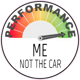 Performance Meter Circle Sticker | U.S. Custom Stickers