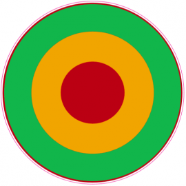 Rasta Bulls Eye Circle Sticker | U.S. Custom Stickers