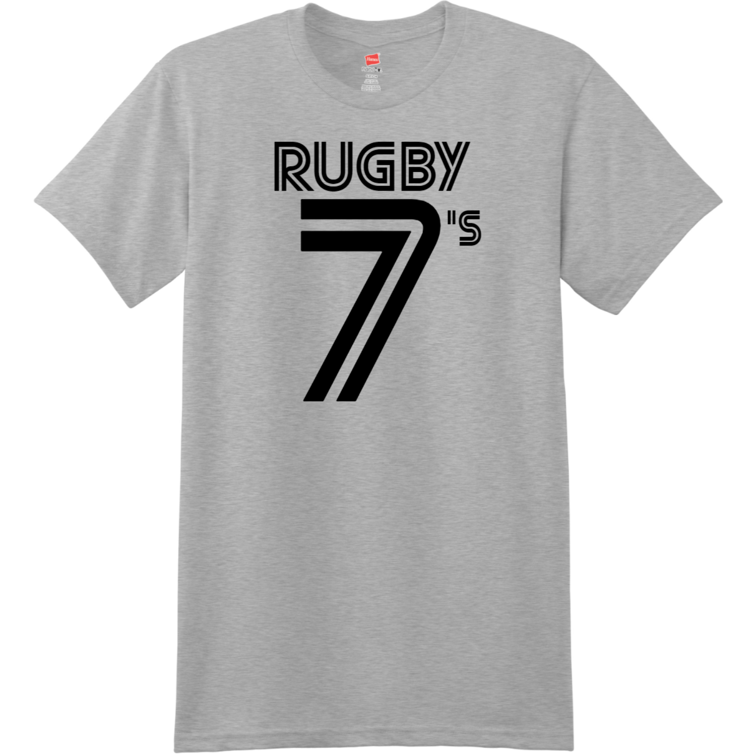 Rugby Sevens Retro T Shirt Light Steel Hanes Nano 4980 Ringspun Cotton T Shirt