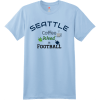 Seattle Coffee Weed And Football T Shirt Light Blue Hanes Nano 4980 Ringspun Cotton T Shirt