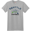 Seattle Coffee Weed And Football T Shirt Light Steel Hanes Nano 4980 Ringspun Cotton T Shirt