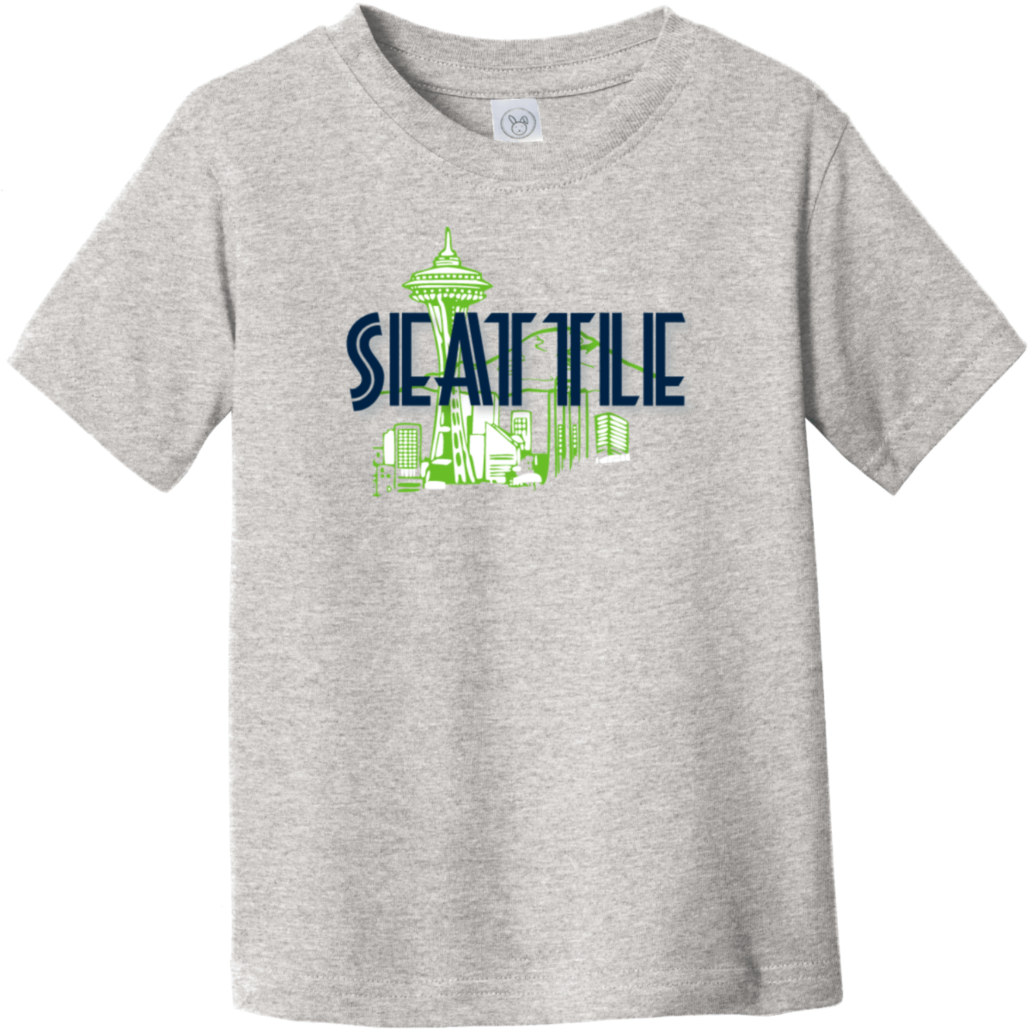 Seattle Space Needle Toddler T-Shirt Heather Rabbit Skins Toddler Fine Jersey Tee RS3321