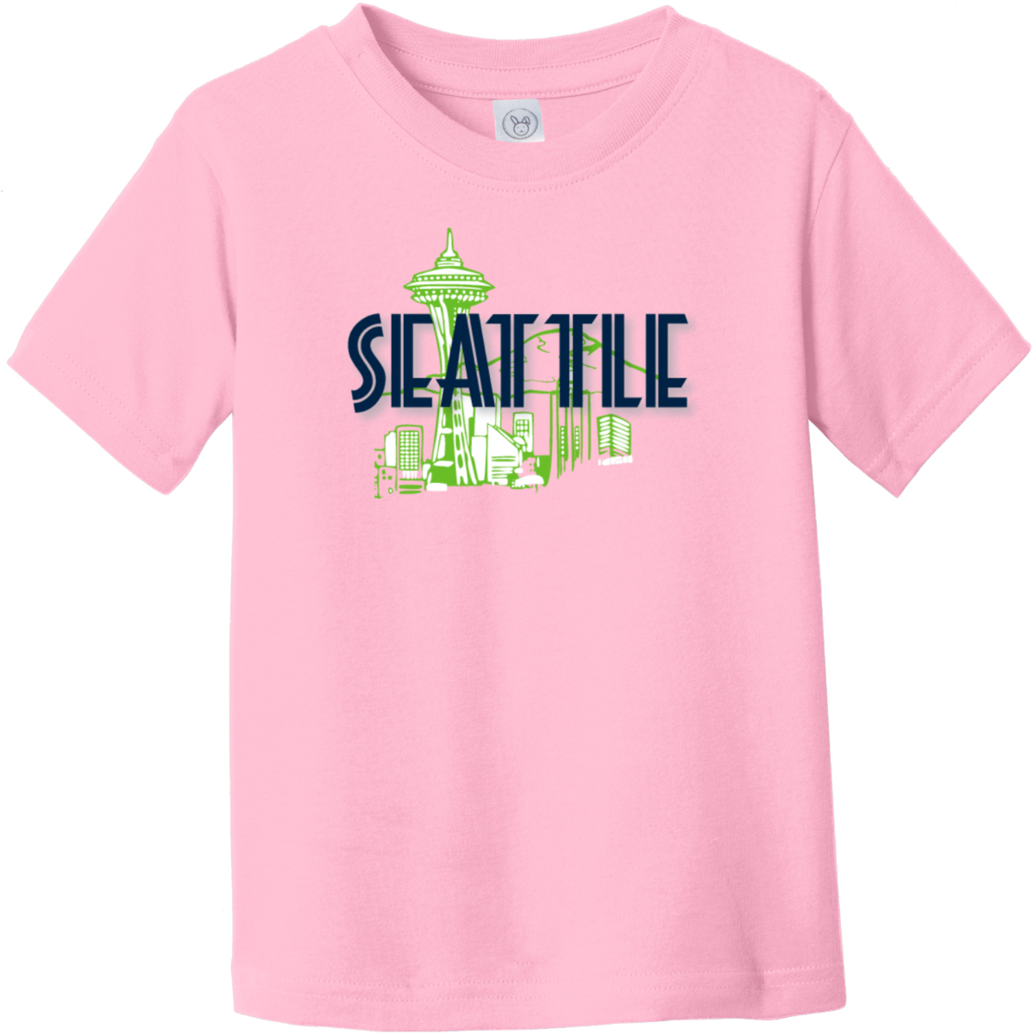 Seattle Space Needle Toddler T-Shirt Pink Rabbit Skins Toddler Fine Jersey Tee RS3321
