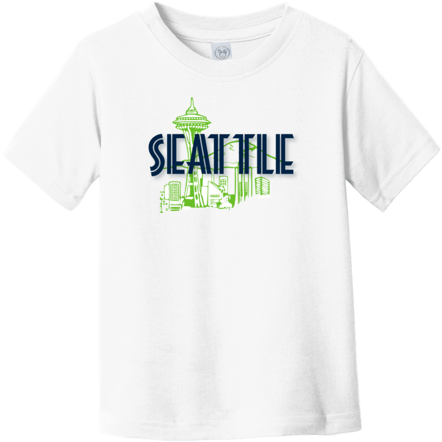 Seattle Space Needle Toddler T-Shirt White Rabbit Skins Toddler Fine Jersey Tee RS3321