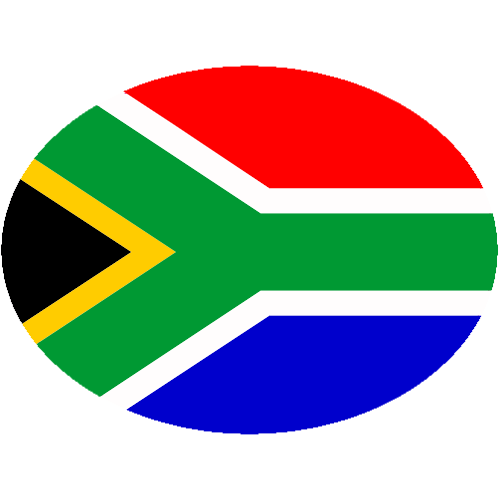 South African Flag Oval Sticker | U.S. Custom Stickers