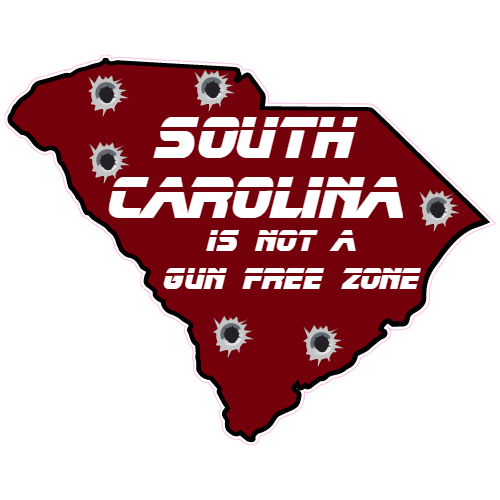 South Carolina Is Not A Gun Free Zone Sticker | U.S. Custom Stickers