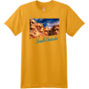 South Dakota Mount Rushmore T Shirt Gold Hanes Nano 4980 Ringspun Cotton T Shirt