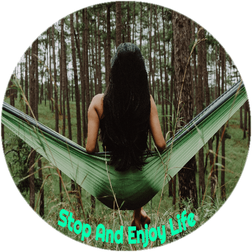 Stop And Enjoy Life Circle Sticker | U.S. Custom Stickers