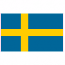 Swedish Flag Sweden Sticker | U.S. Custom Stickers
