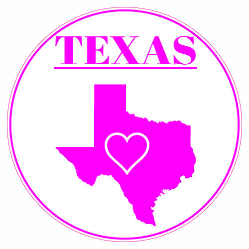 Texas Heart Circle Decal | U.S. Custom Stickers