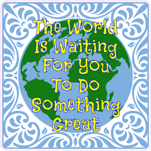 The World Is Waiting For You Sticker | U.S. Custom Stickers