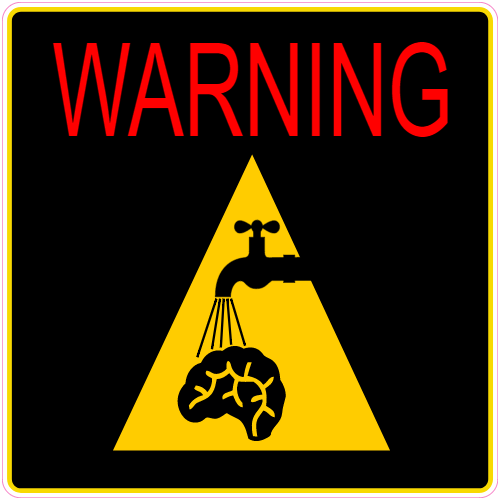 Warning You Are Being Brain Washed Sticker | U.S. Custom Stickers
