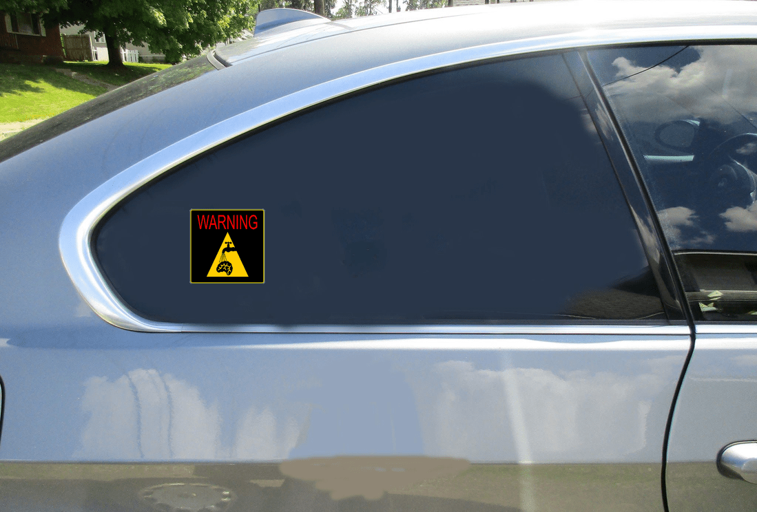 Warning You Are Being Brain Washed Sticker Car Sticker