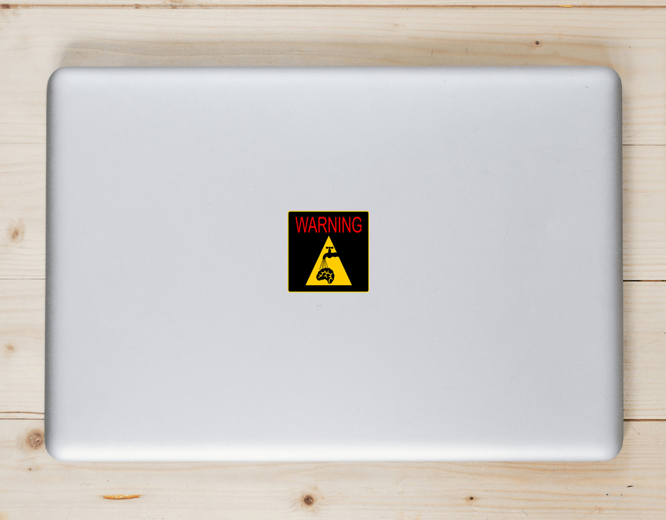 Warning You Are Being Brain Washed Sticker Laptop Sticker