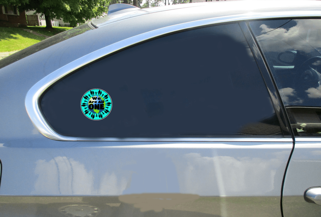 We Are All One Earth Peace Circle Sticker Car Sticker
