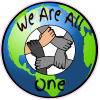 We Are All One Hands Together Sticker | U.S. Custom Stickers
