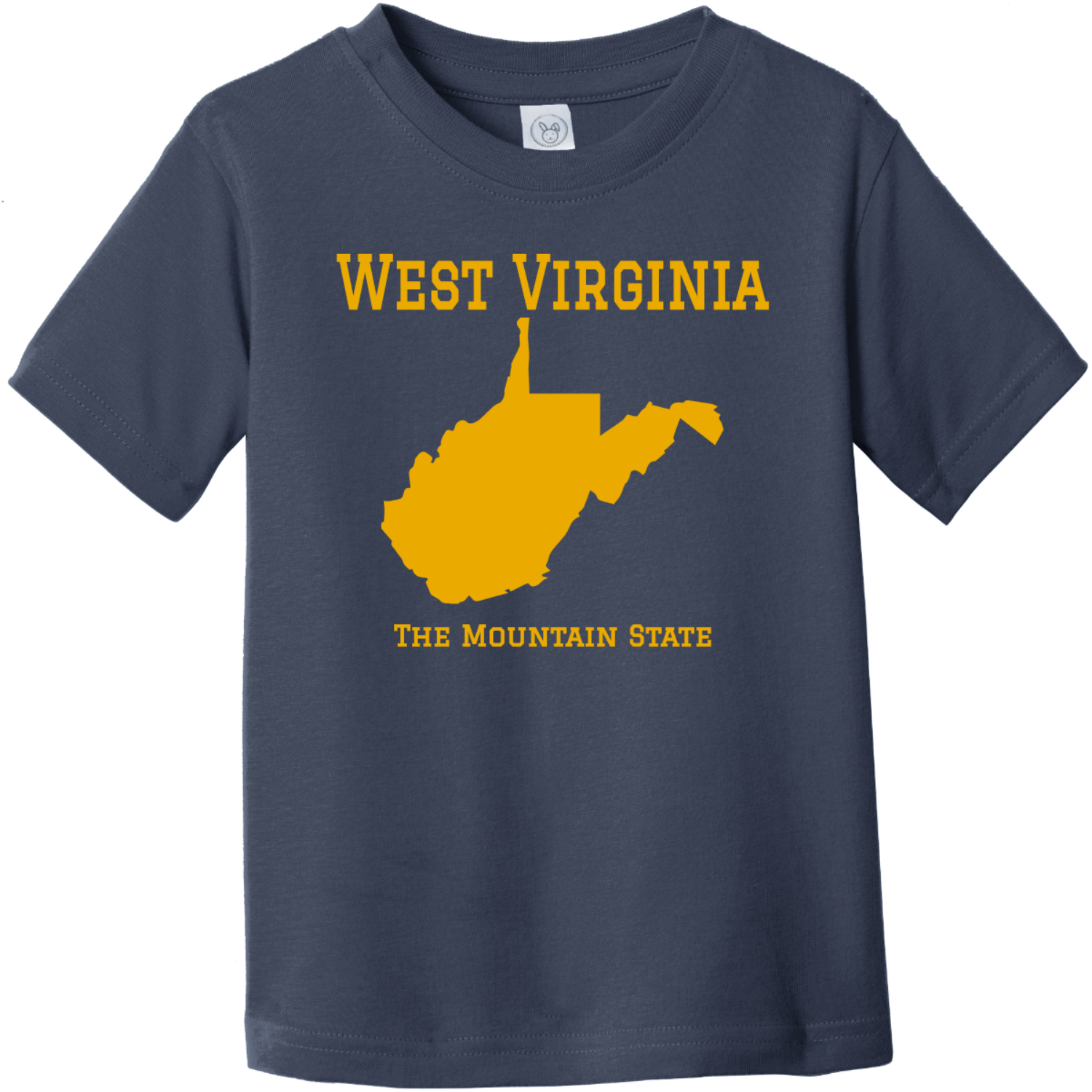 West Virginia The Mountain State Toddler T Shirt Navy Rabbit Skins Toddler Fine Jersey Tee RS3321