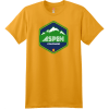 Aspen Colorado Mountain T Shirt Gold Hanes Nano 4980 Ringspun Cotton T Shirt