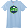 Aspen Colorado Mountain T Shirt Light Blue Hanes Nano 4980 Ringspun Cotton T Shirt