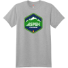 Aspen Colorado Mountain T Shirt Light Steel Hanes Nano 4980 Ringspun Cotton T Shirt