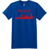 Atlanta City Skyline Retro T Shirt Deep Royal Hanes Nano 4980 Ringspun Cotton T Shirt