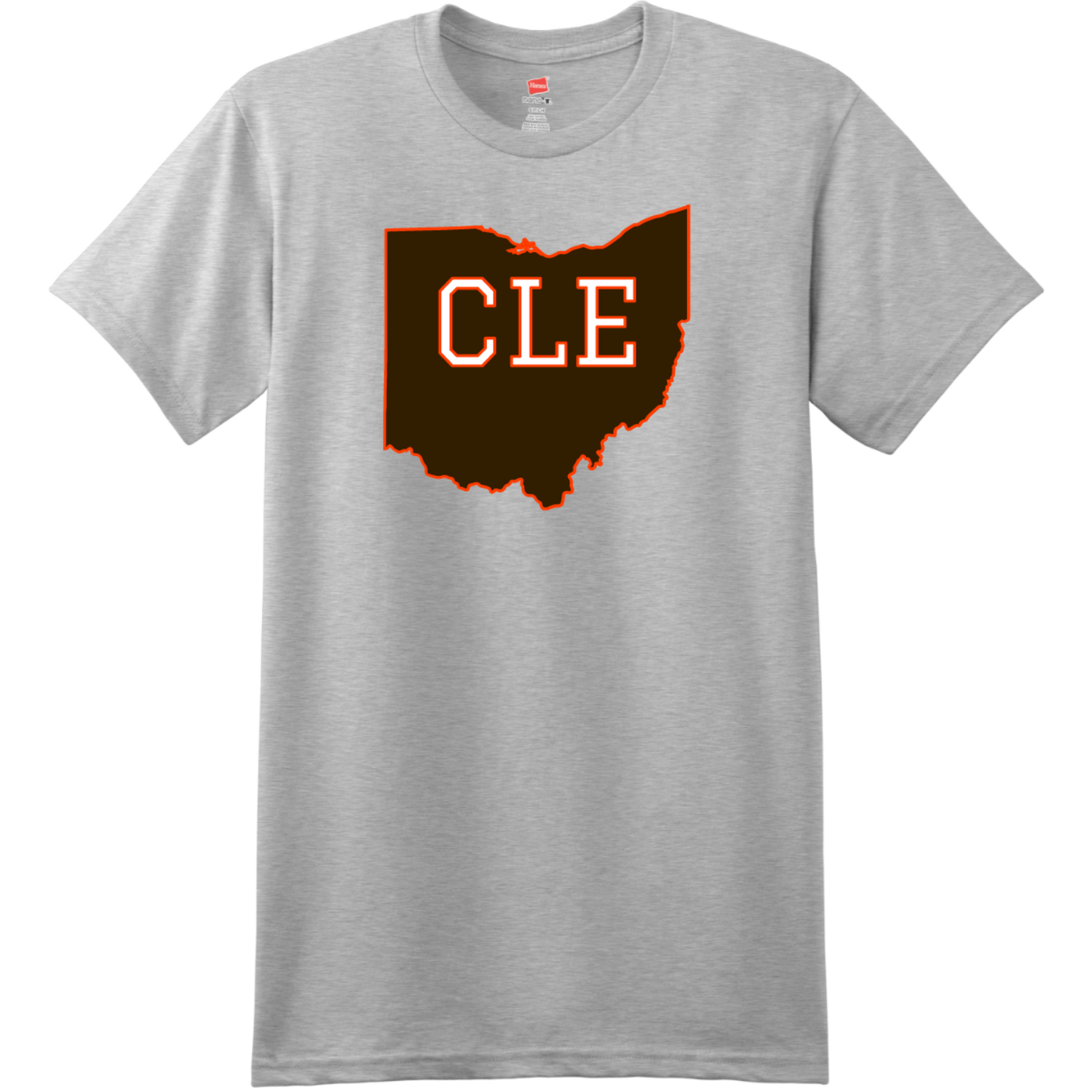 CLE Cleveland Ohio State T Shirt Ash Hanes Nano 4980 Ringspun Cotton T Shirt